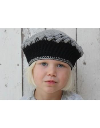 Zwart grijs hoedje